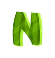n veggie fruit letter of english alphabet made vector image vector image