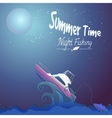 Night fishing vector image vector image