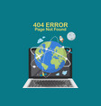 page not found internet problem concept vector image vector image