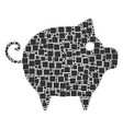 piggy composition of squares and circles vector image vector image
