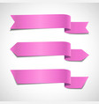pink arrow banners set vector image