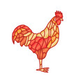 red fire rooster isolated on white background vector image vector image