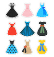 Retro Fashion Dresses Set vector image vector image