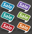 sale speech bubbles set vector image vector image