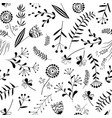 seamless pattern with wild herb vector image vector image