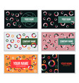 set creative business card template with vector image vector image