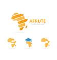 set of africa logo combination safari symbol vector image