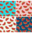 set seamless pattern with watermelon vector image vector image
