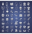silver school college education icons vector image vector image