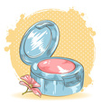 Skincare make-up blusher isolated card vector image