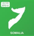 somalia map icon business concept somalia vector image vector image