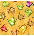 Teacups Pattern vector image vector image