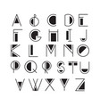 thin line style linear modern font typeface made vector image vector image