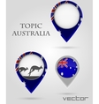 Topic australia Map Marker vector image vector image