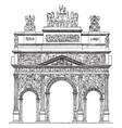 triumphal arch the roman arch in orange vintage vector image vector image