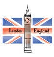 uk flag london city famous landmark travel gb sign vector image vector image