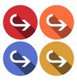 undo icon long shadow arrow back icon