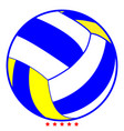 volleyball ball icon color fill style vector image