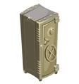 Big old safety deposit box vector image