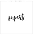 Calligraphy isolated on white background vector image