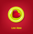 festive creative background for Valentines day wit vector image