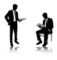businessman reading vector image