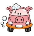 car wash pig vector image