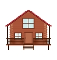 log cabin icon vector image