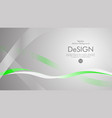 abstract background with green wavy lines vector image