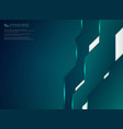 abstract blue green gradient technology template vector image