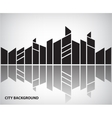 abstract silhouette city background vector image