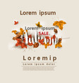 autumn sale layout decorate for web and banner vector image vector image
