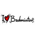 badminton love vector image
