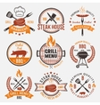 BBQ Retro Style Emblems vector image vector image