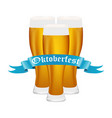 beer on oktoberfest vector image