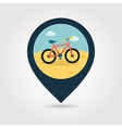 Bicycle pin map icon Summer Vacation vector image