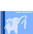birthday elephant vector image vector image