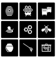 black honey icon set vector image