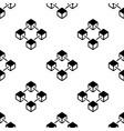 blockchain pattern - block chain cubes vector image vector image