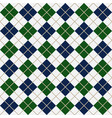 blue and green argyle harlequin seamless pattern vector image vector image