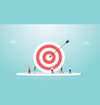 business or people target with big dart and some vector image