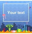 card with coral reef vector image vector image