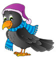 cartoon raven theme image 1 vector image