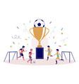 children football championship flat style vector image vector image