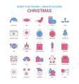 christmas icon dusky flat color - vintage 25 icon vector image