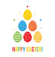 colorful flat design happy easter card vector image vector image