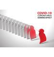 covid-19 virus pathogen impact domino create fall vector image
