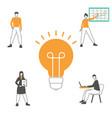 creative idea and teamwork concept creative idea vector image