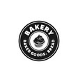 cupcake bakery rounded label vintage logo designs vector image