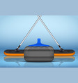 curling sport equipment vector image vector image